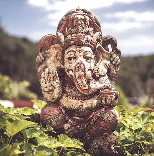 Ganesha begrüßt die Gäste der Yoga Finca Son Mola Vell auf Mallorca