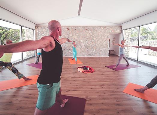Yogahalle Yoga Shala der Finca Son Mola Vell Mallorca