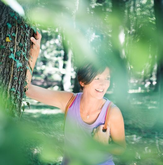 Yogalehrerin Gabriele Haage auf der Yoga Finca Mallorca