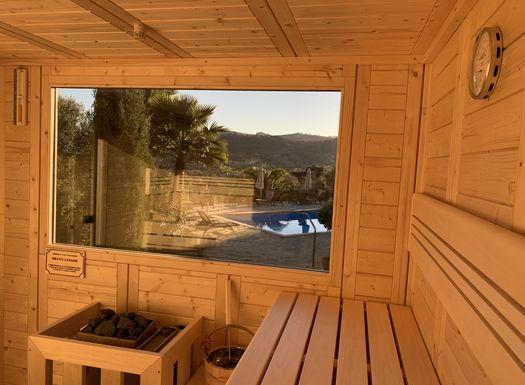 Entspannung pur in der Sauna im Yoga Urlaub Mallorca